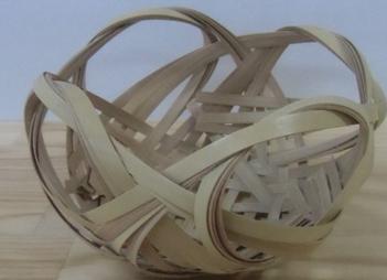 竹で四海波花篭(しかいなみはなかご)を作ろう